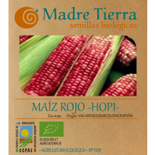 Semillas maíz rojo hopi - Madre tierra - Ecovidasolar
