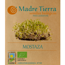 Semillas de mostaza para germinar -  Madre tierra - Ecovidasolar