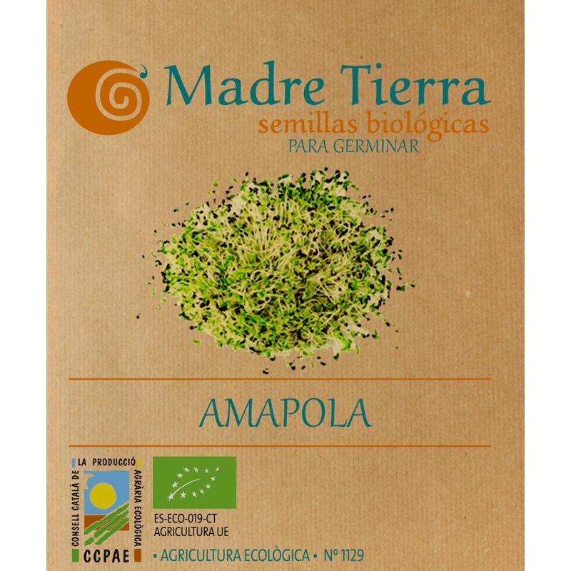 Semillas de amapola para germinar - Madre tierra - Ecovidasolar