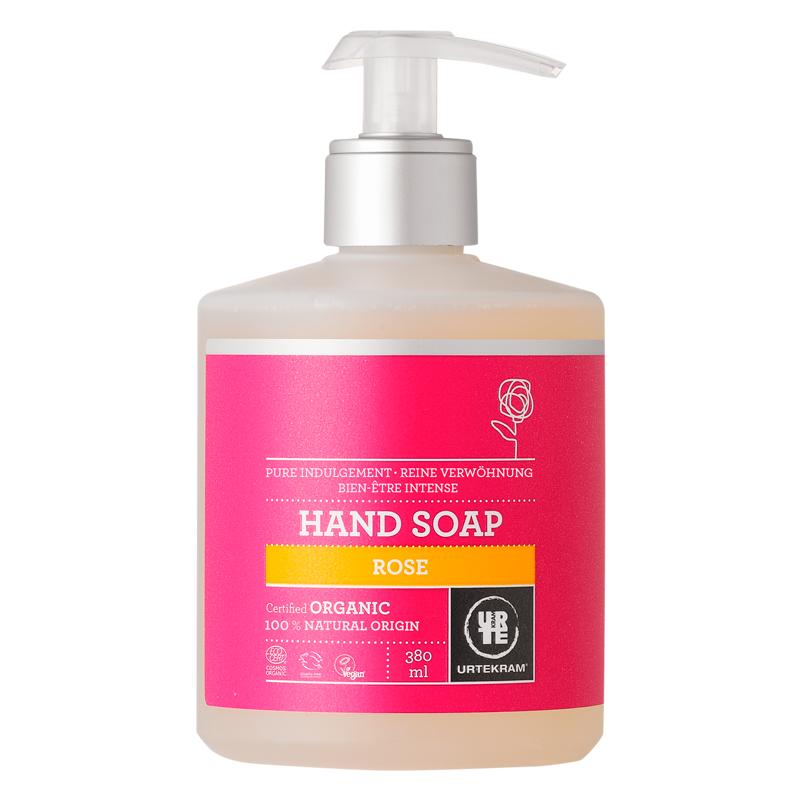 Jabón de manos rosa orgánico - URTEKRAM - Ecovidasolar