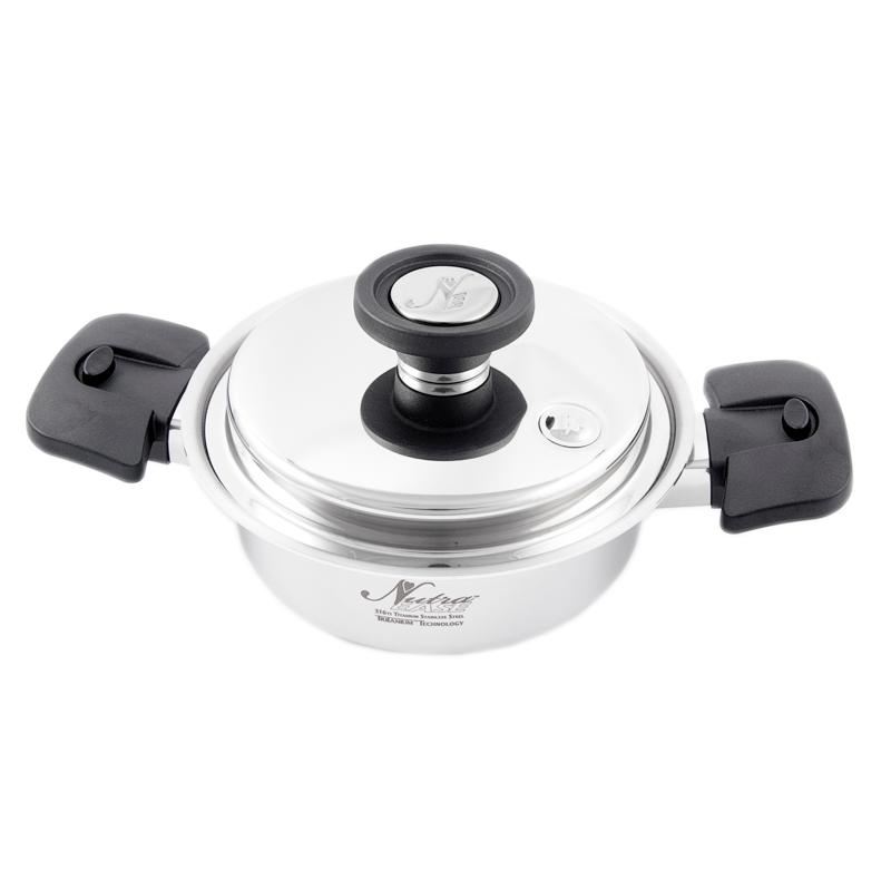 Olla de titanio 316Ti - 0,95 litros - Nutraease - Ecovidasolar