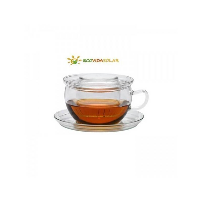 Taza de té clásica con platillo
