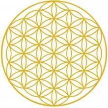Flor de la vida en oro - Adhesivo vinilo flor de la vida Ecovidasolar