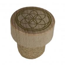 Tapón de madera de garrafa de vidrio de Murano de 2 litros