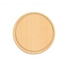 Tabla de cortar de madera de haya redonda
