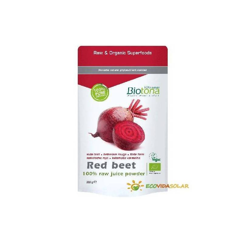 Remolacha roja cruda en polvo de BIOTONA