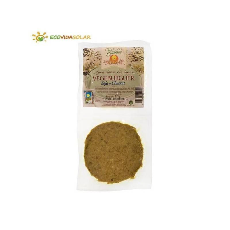 Vegeburguer de soja con chucrut bio - Vegetalia