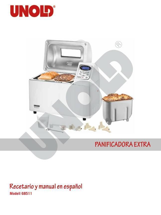 Recetario y manual en español panificadora extra de Unold