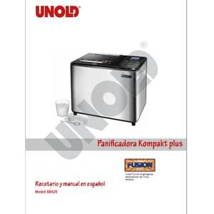 Recetario y manual en español de la panificadora Kompakt plus de Unold