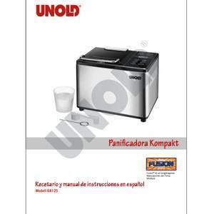 Recetario y manual de la panificadora Kompakt