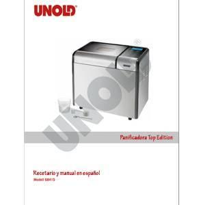 Recetario y manual en español de la panificadora Top edition de Unold